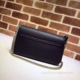 Gucci Soho Leather Chain Shoulder Bag Black 336752