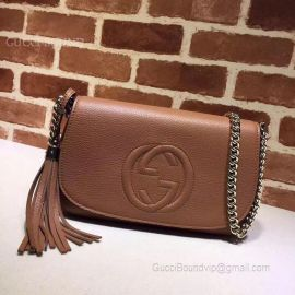 Gucci Soho Leather Chain Shoulder Bag Clay 336752