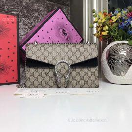 Gucci Dionysus Small GG Shoulder Bag Black 400249