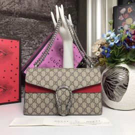 Gucci Dionysus Small GG Shoulder Bag Red 400249
