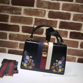 Gucci Sylvie Embroidered Small Shoulder Bag 421882