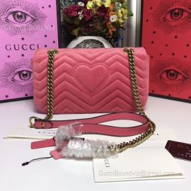 Gucci GG Marmont Velvet Shoulder Bag Light Red 443497