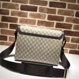 Gucci GG Supreme Flap Messenger Bag Khaki 474138