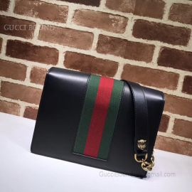 Gucci GG Marmont Leather Shoulder Bag black 476468
