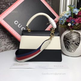 Gucci Queen Margaret Small Shoulder Bag Black And White 476541