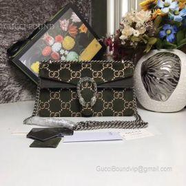 Gucci Dionysus GG Velvet Small Shoulder Bag Black 499623