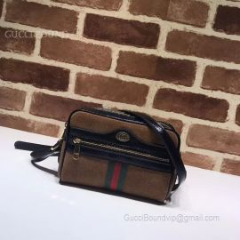 Gucci Ophidia GG Supreme Small Shoulder Bag Coffee 517350
