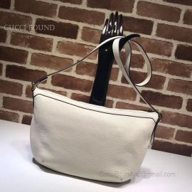 Gucci Original Leather Women Shoulder Bag White 523592