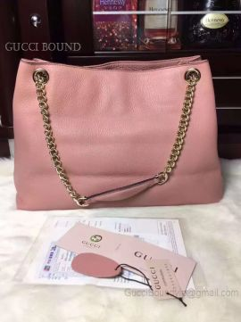 Gucci Soho Leather Shoulder Bag Pink 308982