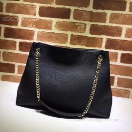 Gucci Soho Leather Shoulder Bag Black 308982