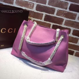Gucci Soho Leather Shoulder Bag Purple 308982