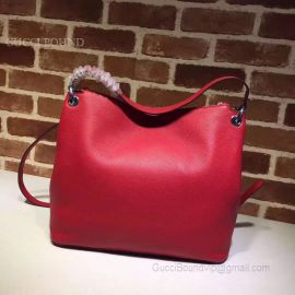 Gucci Women Tassels Soho Hobo Leather Shoulder Bag Red 408825