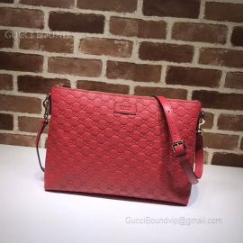 Gucci Signature Soft Messenger Red 473882