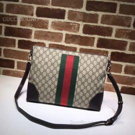 Gucci GG Supreme Messenger Bag Khaki 474139
