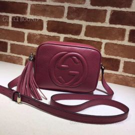 Gucci Soho Small Leather Disco Bag Purple 308364