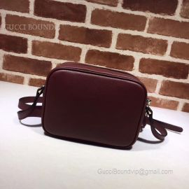 Gucci Soho Small Leather Disco Bag Wine 308364