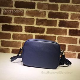 Gucci Soho Small Leather Disco Bag Blue 308364