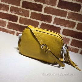 Gucci Soho Small Leather Disco Bag Yellow 308364