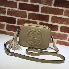 Gucci Soho Small Leather Disco Bag Khaki 308364