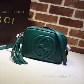Gucci Soho Small Leather Disco Bag Green 308364