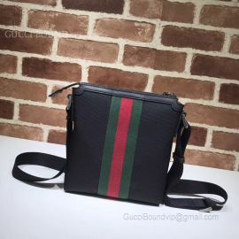 Gucci Techno Canvas Messenger With Web Black 471454