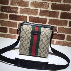 Gucci Web GG Supreme Flat Messenger 471454