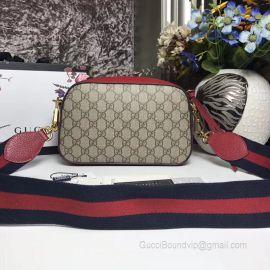 Gucci GG Supreme Messenger Bag Red 476466