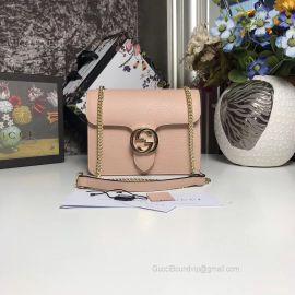 Gucci Women Leather Interlocking GG Crossbody Purse Handbag Pink 510304