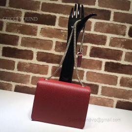 Gucci Women Leather Interlocking GG Crossbody Purse Handbag Wine 510304