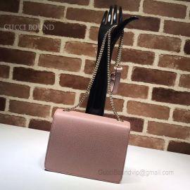 Gucci Women Leather Interlocking GG Crossbody Purse Pink Handbag 510304