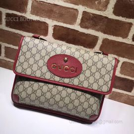 Gucci GG Supreme Messenger Bag Red 495654