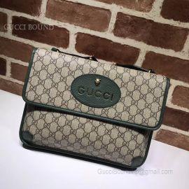 Gucci GG Supreme Messenger Bag Green 495654