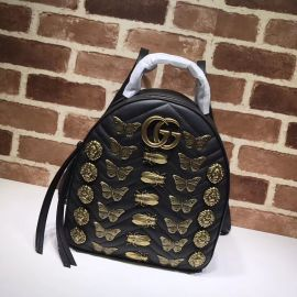 Gucci GG Marmont Animal Studs Leather Backpack Black 476671