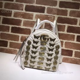 Gucci GG Marmont Animal Studs Leather Backpack White 476671