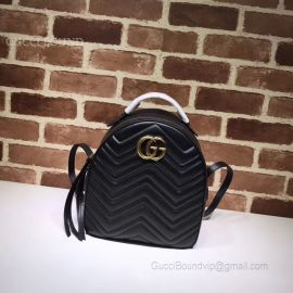 Gucci GG Marmont Quilted Leather Backpack Black 476671