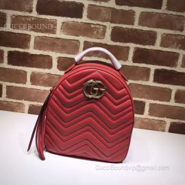 Gucci GG Marmont Quilted Leather Backpack Red 476671