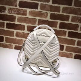 Gucci GG Marmont Quilted Leather Backpack White 476671