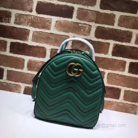 Gucci GG Marmont Quilted Leather Backpack Green 476671