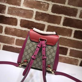 Gucci Padlock GG Supreme Backpack Wine 498194