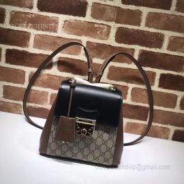 Gucci Padlock GG Supreme Backpack Black 498194