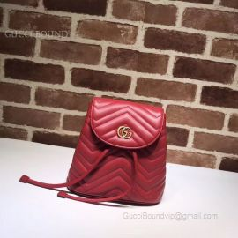 Gucci GG Marmont Matelasse Backpack Red 528129