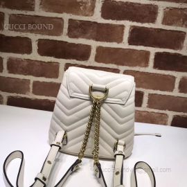 Gucci GG Marmont Matelasse Backpack White 528129