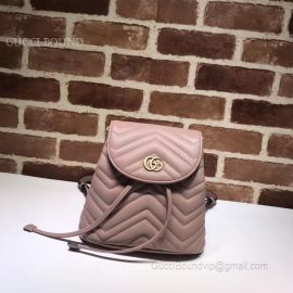 Gucci GG Marmont Matelasse Backpack Pink 528129