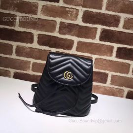 Gucci GG Marmont Matelasse Black Backpack 528129