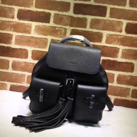 Gucci Bamboo Leather Backpack Black 370833