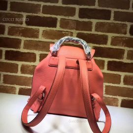 Gucci Bamboo Leather Backpack Red 370833