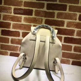 Gucci Bamboo Leather Backpack Khaki 370833