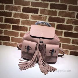 Gucci Bamboo Leather Backpack Pink 370833