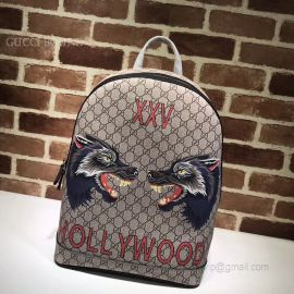 Gucci Wolf Print GG Supreme Backpack 419584