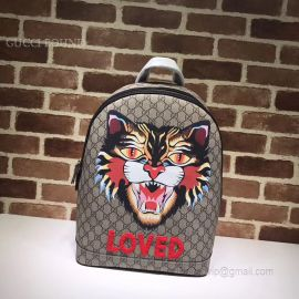 Gucci Tiger Head Print GG Supreme Backpack 419584
